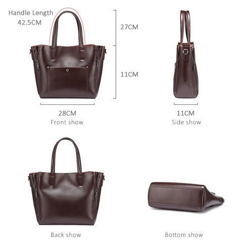 REALER women handbags split leather crossbody Shoulder bag tote ladies designer high quality large messenger bags for women Karachi