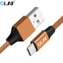 Купить с кэшбэком OLAF USB Type C Cable For Samsung Galaxy S9 S8 Note 9 8 Plus Fast Charging USB C Cable For Xiaomi Mi 5 8 A2 USB Type-C Cord