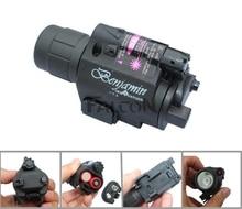 2in1 Tactical Red Dot Laser Sight LED Flashlight Combo Hunting Laser for Pistol Guns Colt 1911