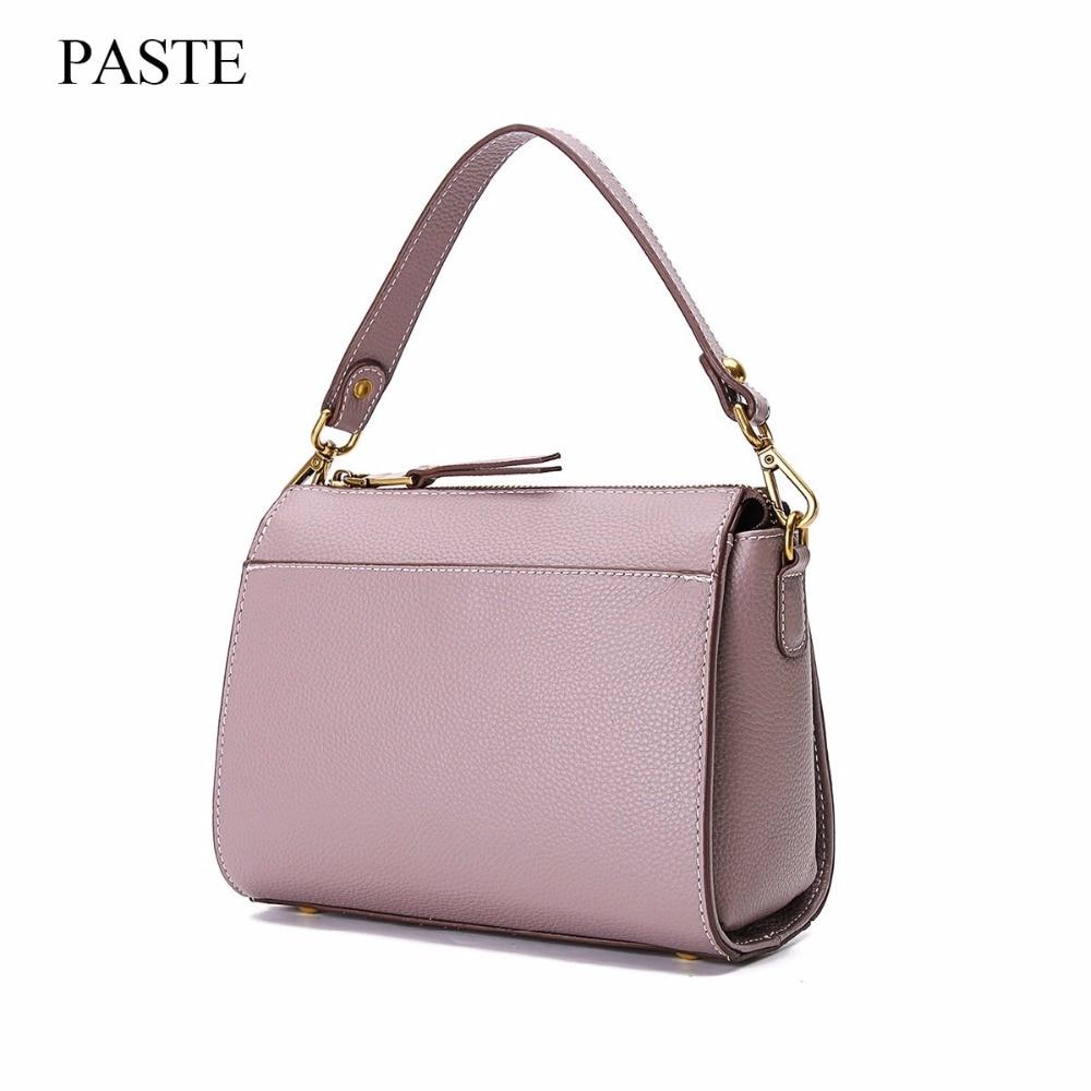 New 2017 women genuine leather handbags famous shoulder bags women designers brands bag vintage tote bags Crossbody Tassel C329