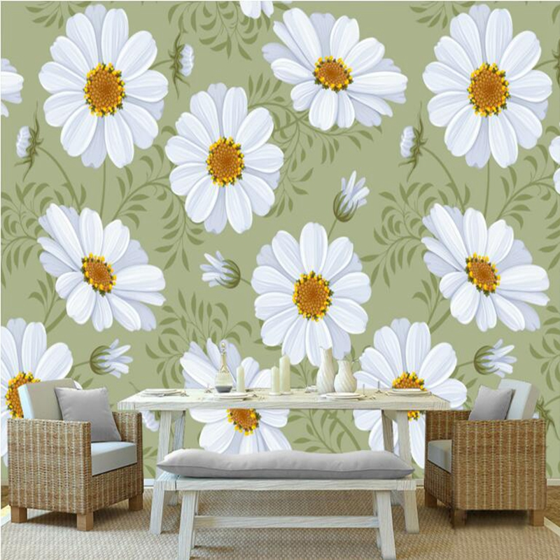 3d Wall Murals Flowers Modern Minimalist Fresh Pastoral Floral De Parede Floral Bedroom Walls Wallpapers for Boys and Girls Room