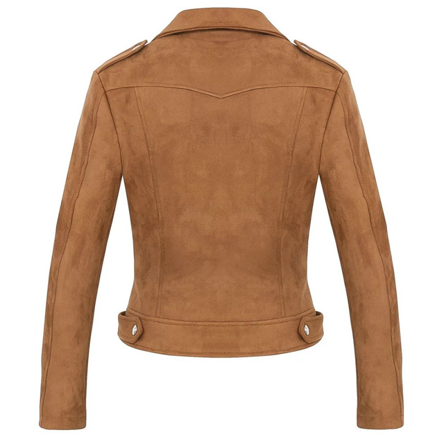Soft Suede Leather Jacket for Women