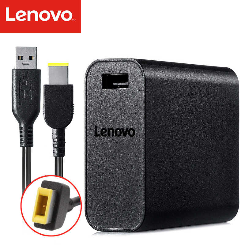 65 W Power Adapter untuk ThinkPad 65 W Portable Power Supply Charger Dukungan Lenovo