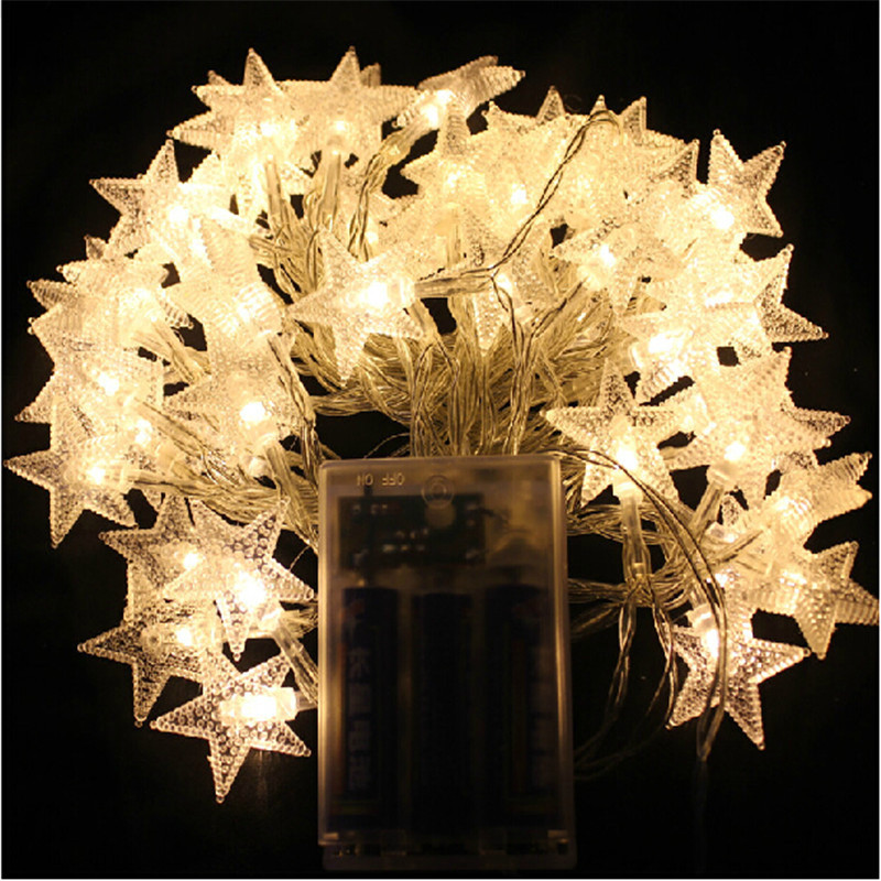 ZINUO 4M 40pcs LED Star Beauty Light Party Fairy Lights Battery Operated LED string lights for Wedding Xmas Party Outdoor Indoor