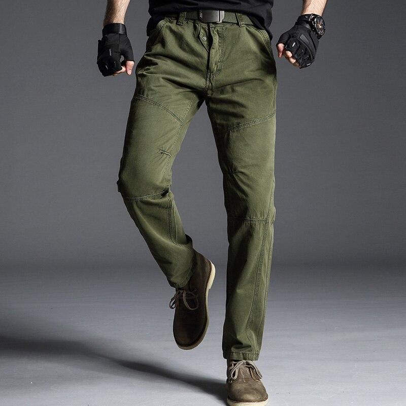 Mode Design pantalon décontracté homme printemps automne armée militaire pantalon résistant à l'usure hommes piste noir Cargo pantalon mâle salopette