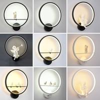 Modern Wall Light Fixtures Angel Nordic For Creative For Living Room Bedroom Bedside Bracket High Power Led Shine Home Dero