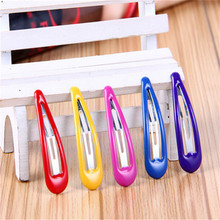 6 Pcs/lot Cute Fashion Hair Clip Children Droplet Hairpins Baby Solid Hair Accessories Lovely Girls Candy Color Hair Clips