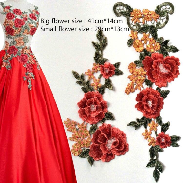 Fleur Maille Dentelle Brodé Patch Sew On Applique pour vêtements robe decor