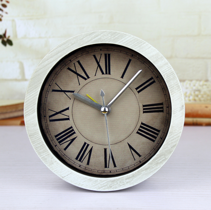 European Classic In  Restore Ancient Ways Small Alarm Clock Table Do Old Contracted Wood Creative  Pastoral Desktop Clock