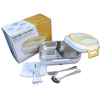 Electric Lunch Box 304 Stainless Steel Food Warmer Container Car Bento Box Home Office 110V/220V US Plug EU Plug