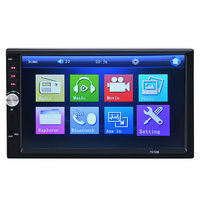2 Din Car Multimedia Radio Player 7'' HD Bluetooth Stereo FM Video Audio MP5 USB AUX Auto Electronics Car Video Radio Player