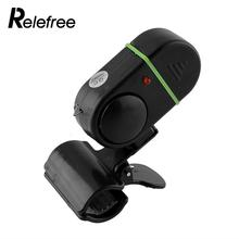 Relefree LED Light Electronic Fish Bite Strike Sound Alarm Bell Alert Clip-On Fishing Rod Pole Tool Black