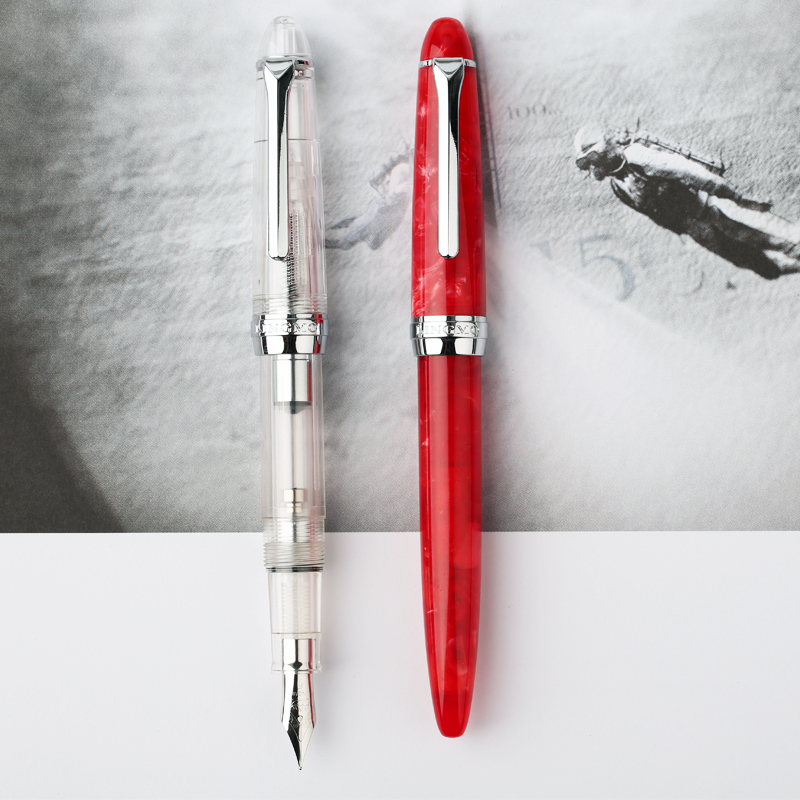 Fashionable Lorelei Fountain Pen Transparent Silver Clip 0.5mm Ink Pens the Best Christmas Gift for Friend and Family 550 554 model pen bamboo pen fountain sets gift for christmas new year wedding gift pen