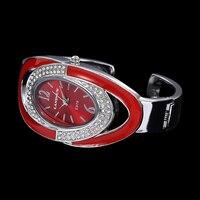 Relogio Feminino Для женщин Роскошные браслет со стразами женские часы Повседневное часы-браслет творчески Для женщин s Девушки часы подарки