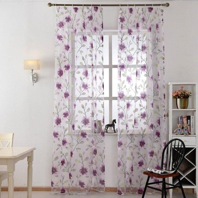 Spedizione gratuita tessuti tende Trattamento finestra pura cucina ...