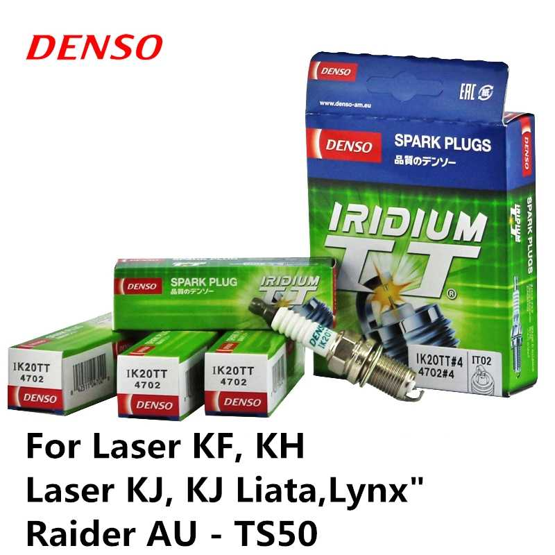 """KF 4 peças/set DENSO vela de Ignição Do Carro Para Laser, KH """"Laser KJ, KJ Liata, lynx """"Raider AU-TS50 IK20TT Iridium Platina"""