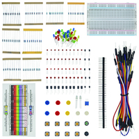 1 Set Resistor LED Capacitor Jumper Wires Breadboard Handy Starter Kit WithRetail Box For Arduino