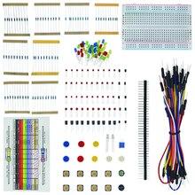 Starter-Kit Led-Capacitor-Jumper 1set-Resistor Raspberry Pi Arduino Breadboard for UNO