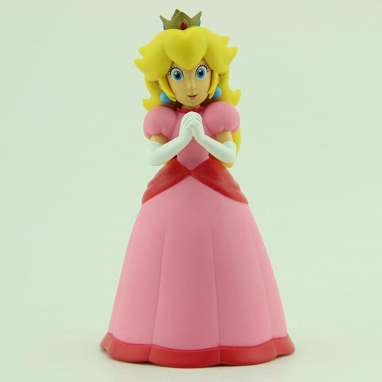 Super Mario Waluigi Princess Peach PVC Action Figure Model Toy 4-7 cm