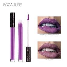 FOCALLURE Lip gloss Waterproof Matte Liquid Lipstick Long Lasting Gloss  Moisturizer Smooth Stick Cosmetic Beauty Makeup