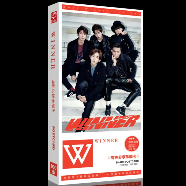Kpop Winner / Super Junior Official Album Group  90 Sets K-pop Win Back Cards Souvenir Gift Poster Sticker Note