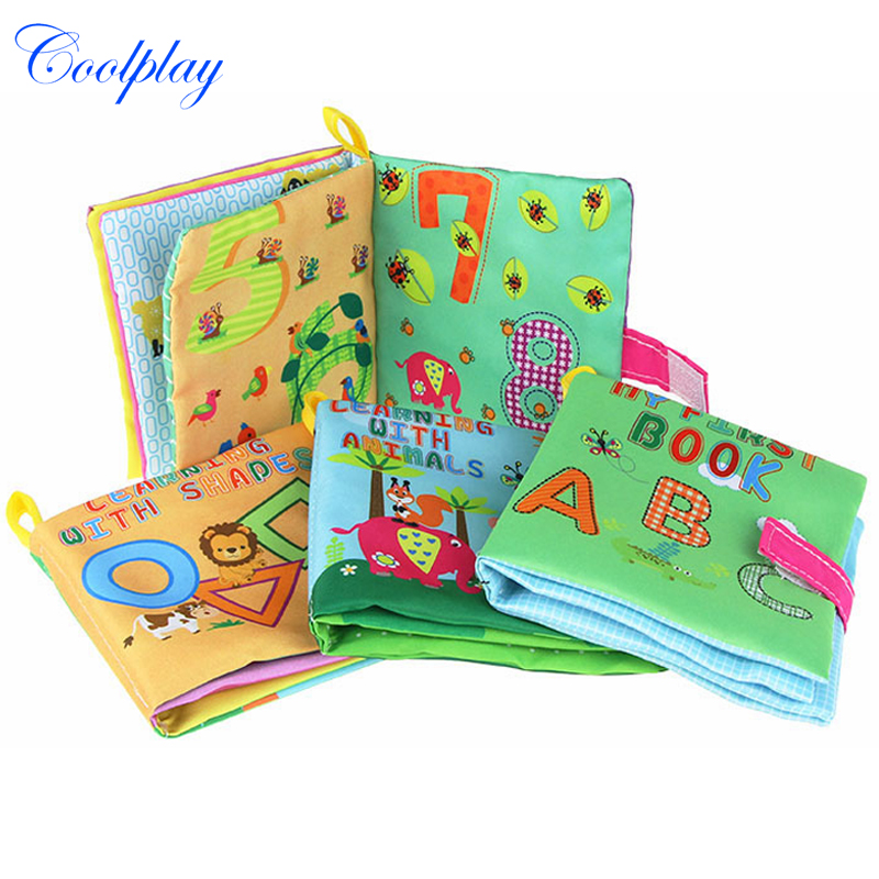 Coolplay Soft Cloth Learning Books Baby Animals Shapes Numbers Cognition Quiet Books Toys For Kids Infant 0-12 Months Books )