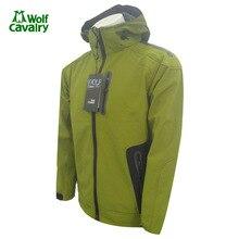 CavalryWolf Térmica Casaco de Lã Homens Inverno jaqueta com capuz Desporto Ao Ar Livre do Softshell Windstopper à prova d' água Morna