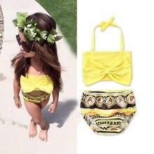 2017 Kids Baby Girls 2pcs Tankini Bikini Set Swimwear Swimsuit Bathing Suit Beachwear Hot Summer Style Swimwear Beautiful Bikini