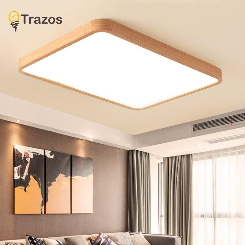 Nordic Einfache Moderne EICHE Holz Decke Lampe Ultra Dünne Japanische LED  Decke Lichter Für Schlafzimmer Wohnzimmer Küche Studie Balkon