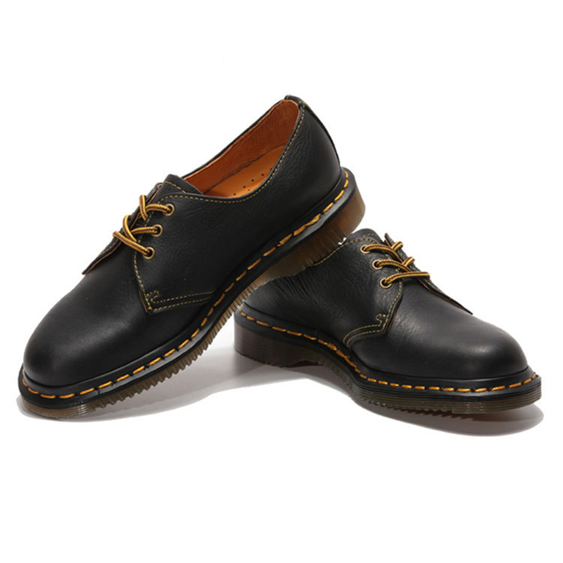 ФОТО 2017 Fashion  Genuine Leather Men's Shoes High Quality Men Causual  Ankle Boots Shoes Vintage British style