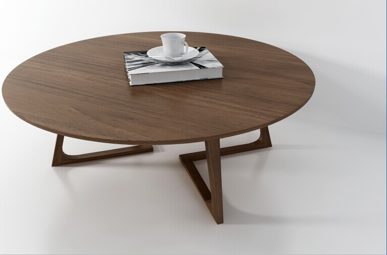Nordic Minimalist Modern Classic Round Coffee Table Restaurant Coffee Table  Office Commercial Size Units IKEA Furniture In Coffee Tables From Furniture  On ...