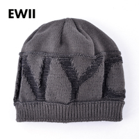 2017 Autumn and winter letter   beanie   knitted hat women bonnet   skullies     beanies   for men knit warm cap adult casual caps bone