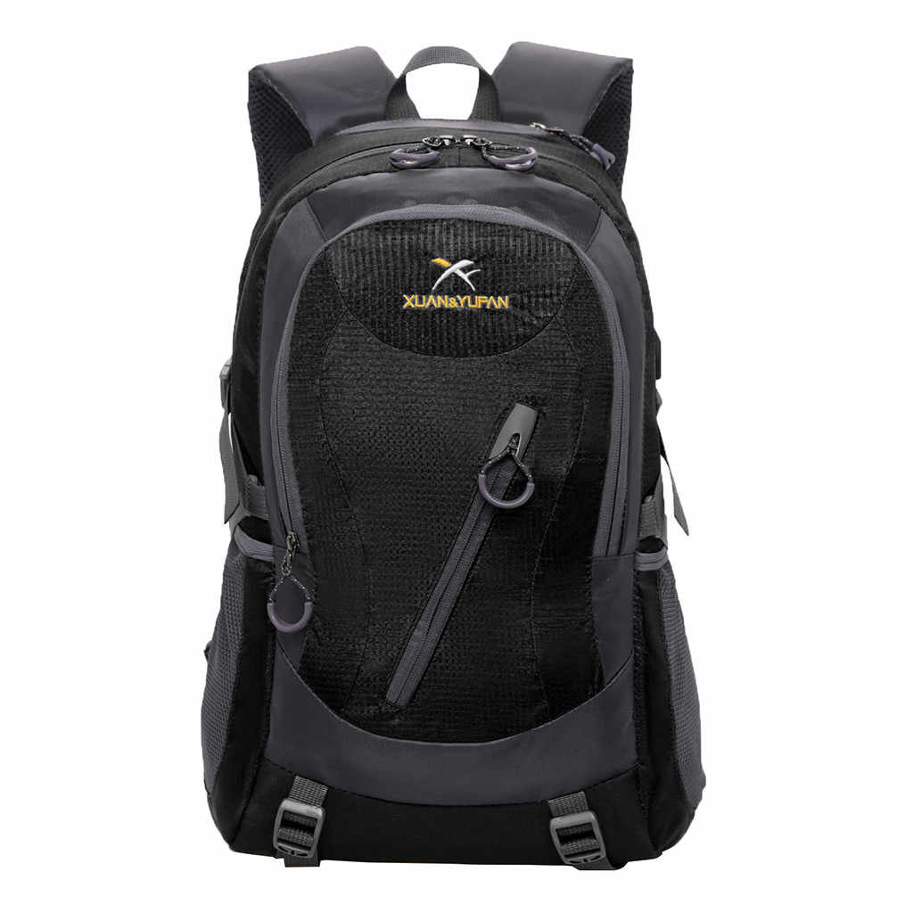 HU WAI JIAN FENG 2019 fresco impermeable deporte al aire libre senderismo Camping mochila de viaje mochila puede