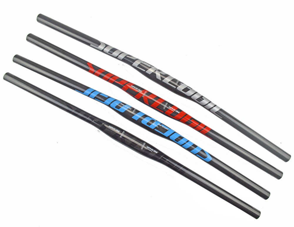 Nouveau superlogic vtt 3 K plein carbone guidon Plat carbone guidon de vélo VTT pièces 31.8*600/620/640/660/680/700/720mm
