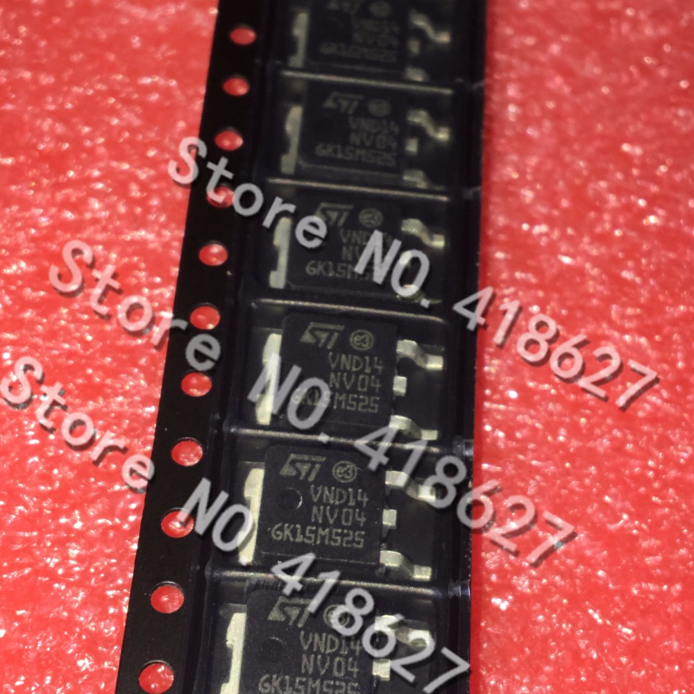 100PCS LOT VND14NV04 VND14NV04TR E TO 252 Intelligent switch circuit protection 12A 40V 74W