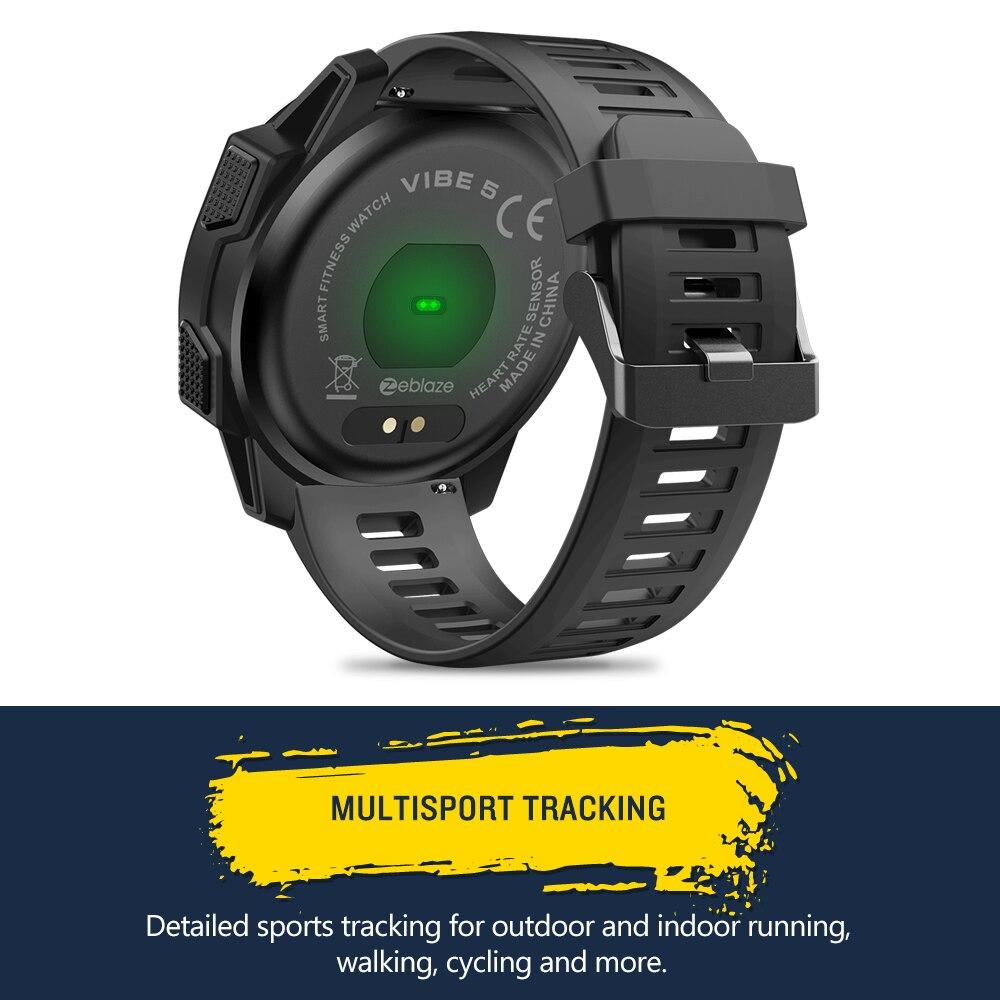Zeblaze VIBE 5 IP67 étanche fréquence cardiaque longue durée de vie de la batterie écran d'affichage couleur multi-sports Modes Fitness Tracker montre intelligente - 5