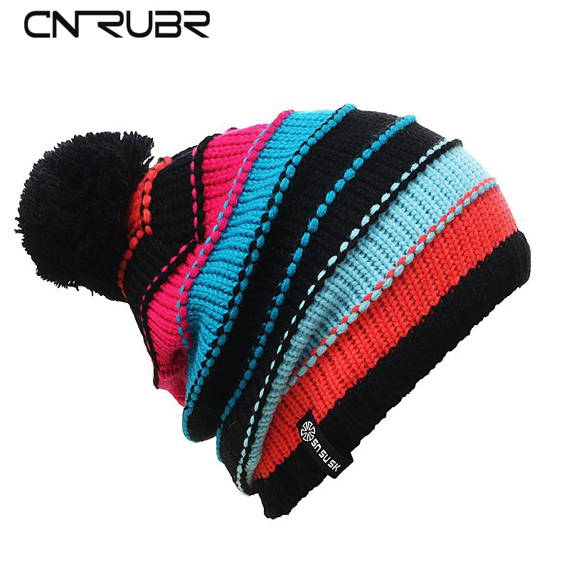 CN-RUBR 2016 Fashion Hat Warm Winter Knitted Beanie Hats Men/Women Caps Skullies And Beanies Cap Snow Casual Bonnet Hat redfox термобелье костюм детский cosmos малиновый