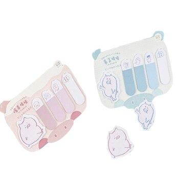 цена на 30pcs/lot Kawaii Pig Wish Series Memo Pad Decoration Memo Pad Self-Adhesive N Times Sticky Notes Office School Supplie
