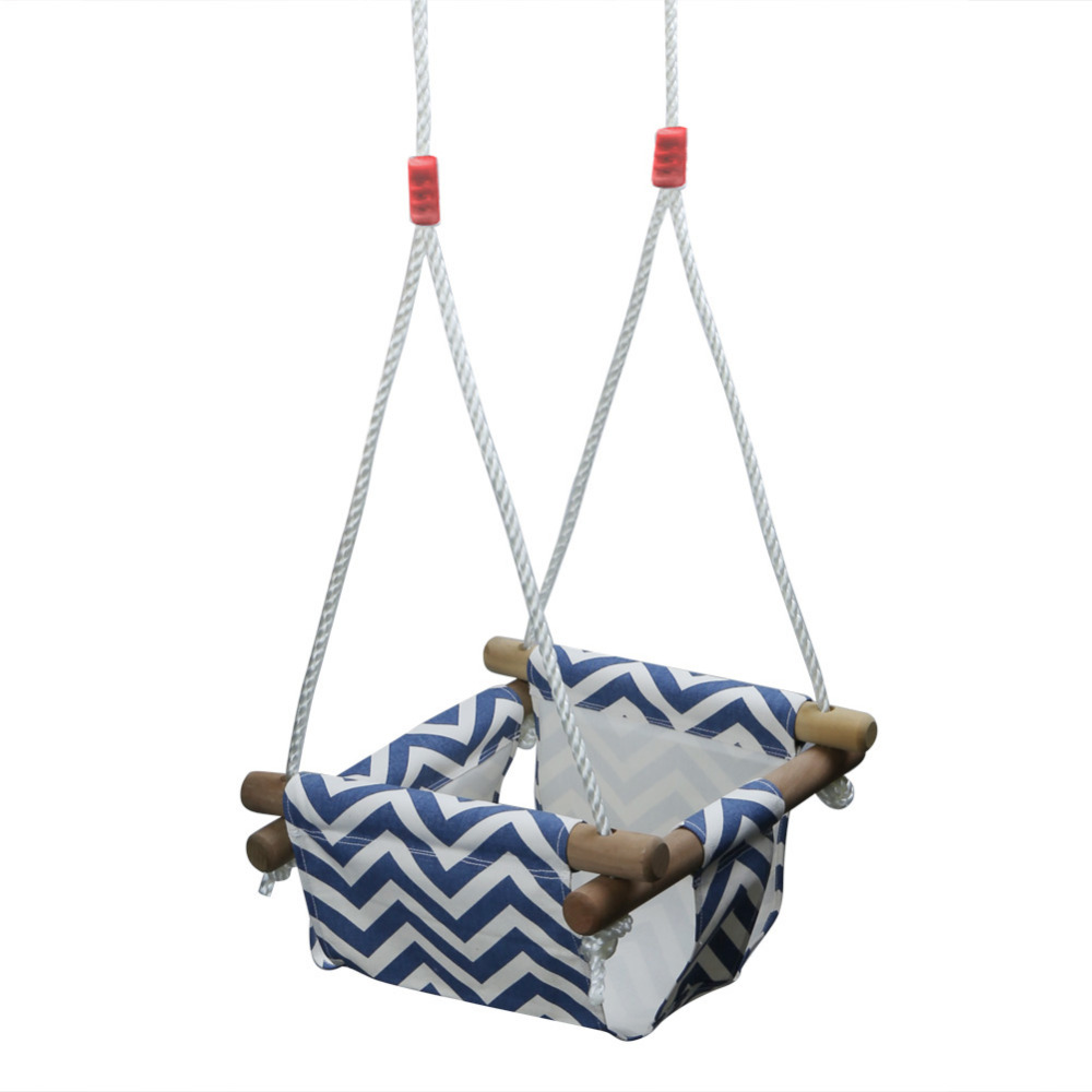 Pellor Baby Toddler Canvas Swing Seat Hammock Chair Indoor Small Swing Hanging Cradle 2.2cm (diameter) * 30cm (length)