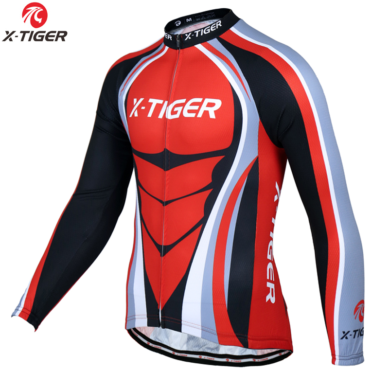 X-Tiger Spring Racing Bike Clothes Cycling Clothing Long Sleeve Maillot Ropa Ciclismo Cycling Jerseys Mountain Bicycle Clothing
