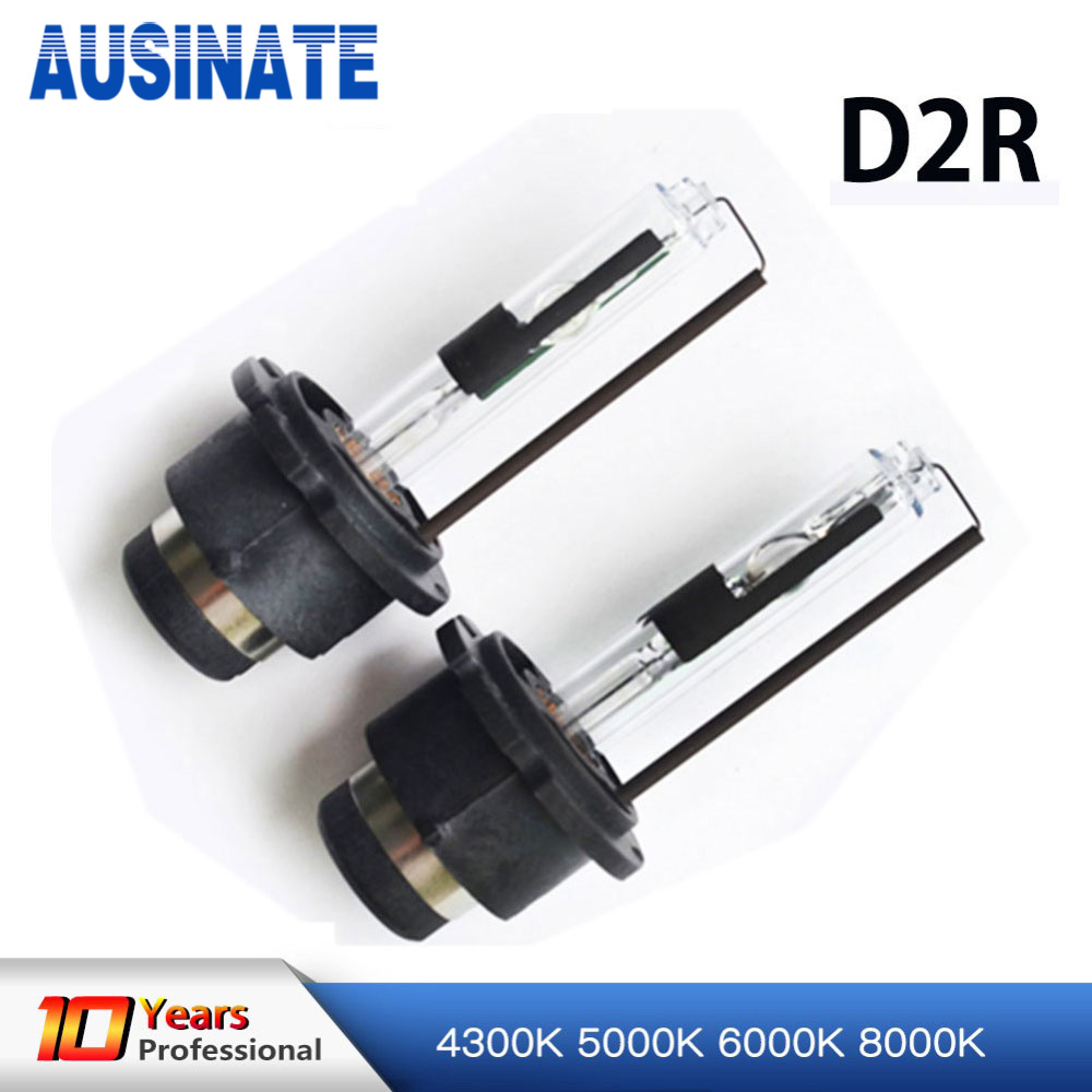 2x D2R HID Xenon Bulb 4300k 5000k 6000k 8000k Car Light 12V 35W 55W D2R Xenon Lamp Bulb Repalcement Car Styling 2pcs xenon hid bulb 9006 55w car headlight lamp 4300k 5000k 6000k 8000k 10000k 12000k 12v car light lens auto fog light bulb