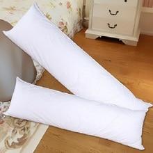 Длинная Подушка, внутренняя белая подушка для тела, Прямоугольная подушка для сна, подушка для дома, спальни, белые постельные принадлежности, 150x50 см