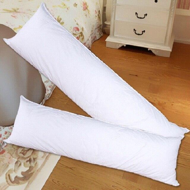 Almohada larga interior de cuerpo blanco almohadilla cojín Anime rectángulo dormir siesta almohada hogar dormitorio blanco ropa de cama accesorios 150x50 CM