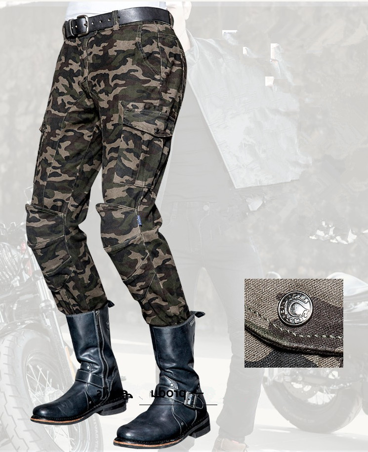 ФОТО Camouflage leisure motorcycle jeans men's motorcycle protective pants uglybros MOTORPOOL UBS014 jeans outdoor tactical pants