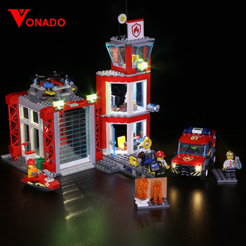 Led light for LEGO 60216 CITY 19-year city new city fire rescue team City series assembling building blocks toys (only light)