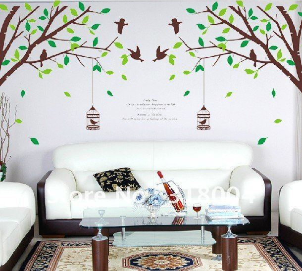 Cage bird large size removable wall sticker decal home decor ...