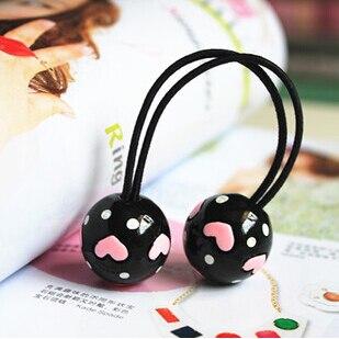 Neue Styling-Tools Love Ball elastische Haarbänder Kopfbedeckungen - Bekleidungszubehör - Foto 4