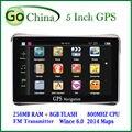 Navegador GPS MTK 800 MHz 256 M 8 G navegación del coche FM 5 pulgadas GPS del coche con nuevos mapas ayuda dropshipping