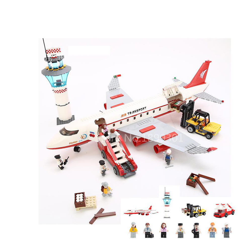 GUDI City Passenger Plane Airplane Action Model Building Block Set Brick 856pcs Classic Children Educational Toys Gifts hot city series aviation private aircraft lepins building block crew passenger figures airplane cars bricks toys for kids gifts