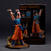 High Quality 15cm PVC Akira Toriyama Dragon Ball Z Japanese Anime Figure Son Goku Spirit Bomb